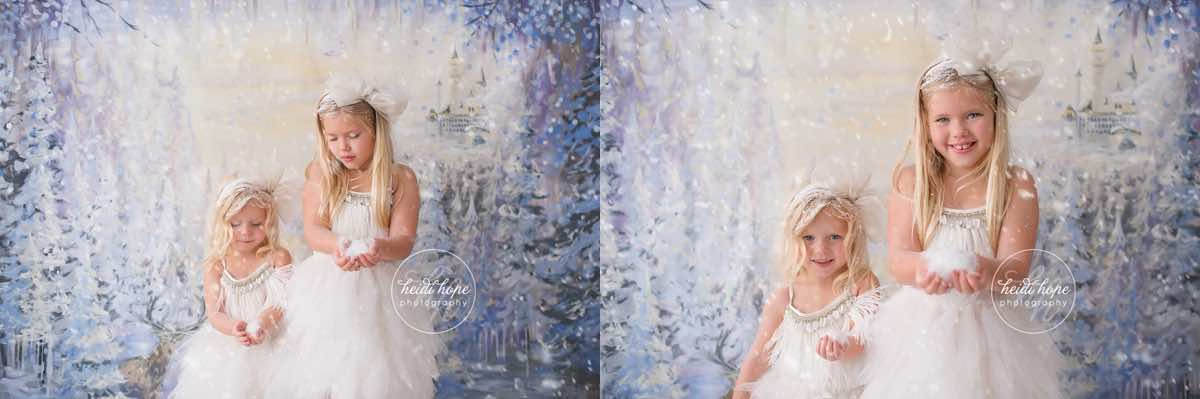 heidi hope backdrop frozen winter wonderland mini session with tutudumonde and snow 5